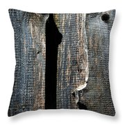 Dark Old Wooden Boards With Shadow Throw Pillow