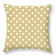 Dark Olive Polka Dots Throw Pillow