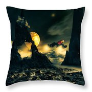 Dark Planet Throw Pillow