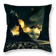 Dark Planet Throw Pillow