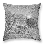 Dark, Rainy Night Throw Pillow