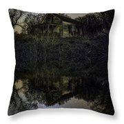 Dark Reflection Throw Pillow