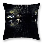 Dark Reflections Throw Pillow