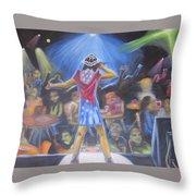 Dark Singing Throw Pillow