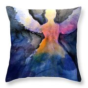 Dark Skies Angel Throw Pillow
