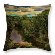 Dark Skies Over The Avon Throw Pillow