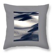 Dark Snowy Nights Throw Pillow