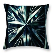 Dark Star On A Glass Scale Throw Pillow