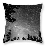 Dark Stellar Universe Throw Pillow