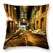 Dark Street Throw Pillow