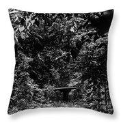 Dark Summer Woods Throw Pillow