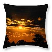 Dark Sun Throw Pillow