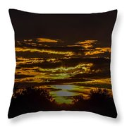 Dark Sunrise Throw Pillow