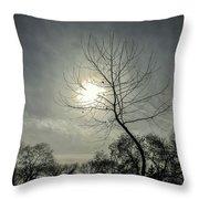 Dark Sunshine Throw Pillow