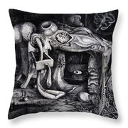 Dark Surprise Throw Pillow