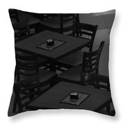 Dark Tables Throw Pillow