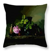 Dark Vases Throw Pillow