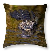 Dark Water Predator Throw Pillow