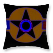 Darker Than Black Throw Pillow
