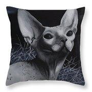 Darkness Cat Throw Pillow
