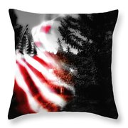 Darkness Falling On Freedom Throw Pillow