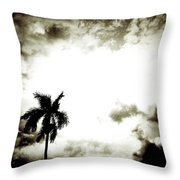 Darkness Moving In Extreme Throw Pillow