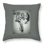 Darkness Of Women Throw Pillow