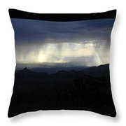 Darkness Over The City Throw Pillow