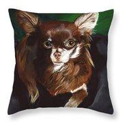 Darla Chihuahua  Throw Pillow