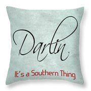 Darlin Throw Pillow