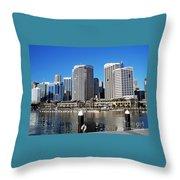 Darling Harbour Sydney Australia Throw Pillow