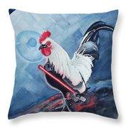 Darth Chicken Throw Pillow