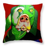 Darth Meaty Throw Pillow