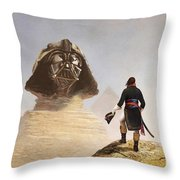Darth Sphinx 3 Throw Pillow