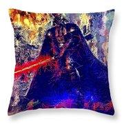 Darth Vader Throw Pillow by Al Matra