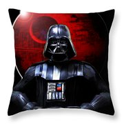 Darth Vader And Death Star Throw Pillow