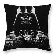 Darth Vader Throw Pillow by Don Medina
