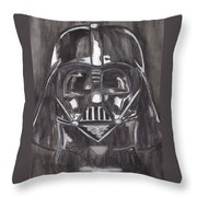 Black And White Star  Throw Pillow