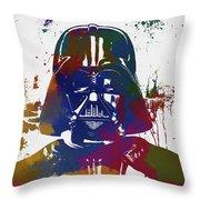Darth Vader Paint Splatter Throw Pillow