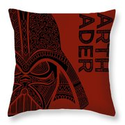 Darth Vader - Star Wars Art  Throw Pillow