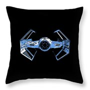 Darth Vaders Tie Figher Advanced X1 Tee Throw Pillow