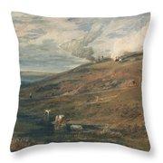 Dartmoor The Source Of The Tamar And The Torridge Throw Pillow