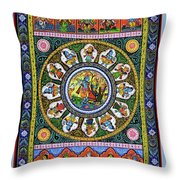 Dashavtar 2 Throw Pillow