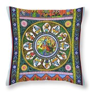 Dashavtar 5 Throw Pillow
