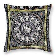 Dashavtar B/w 6 Throw Pillow