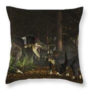 Daspletosaurus Confronts A Family Throw Pillow