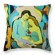 Date From The Past Throw Pillow