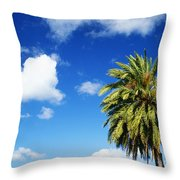 Date Palm Treetop Throw Pillow