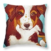 Date With Paint Feb 19 Finley Throw Pillow