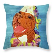 Date With Paint Feb 19 Kayna Throw Pillow